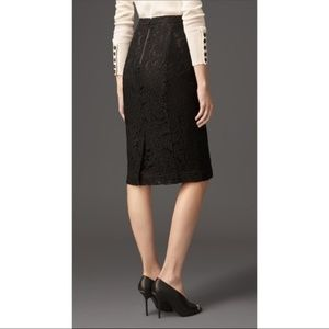 BURBERRY Lace overlay pencil skirt